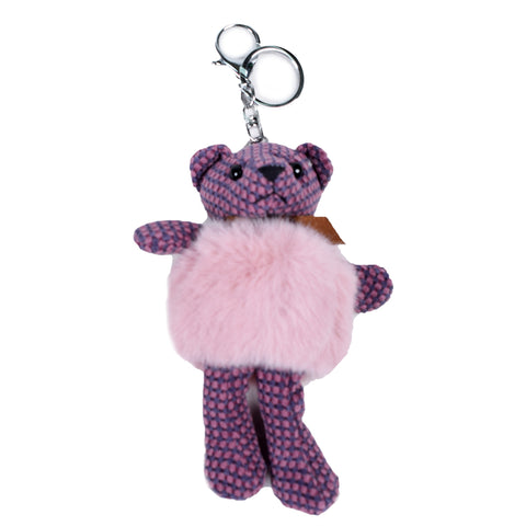 ACC-4091 - Purple Teddy Keychain - All Bags Online