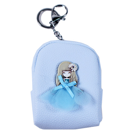 ACC-3057- Blue Small Coin Purse Keychain