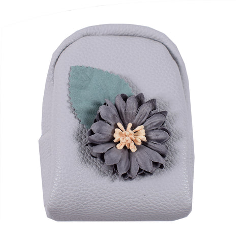ACC-3056- Grey Small Coin Purse Keychain