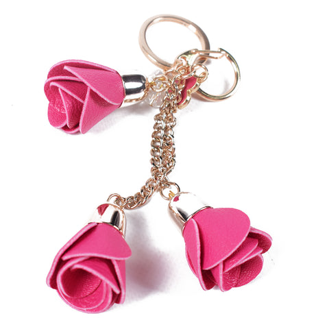 Pink Roses Keychain - All Bags Online