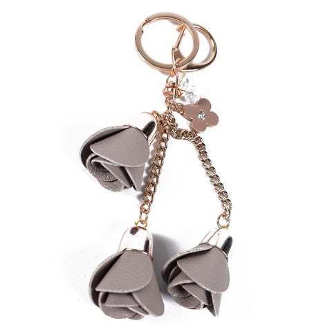 Grey Roses Keychain - All Bags Online