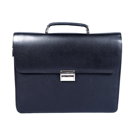 Black Genuine Leather Laptop Bag- GL - 1630 - All Bags Online