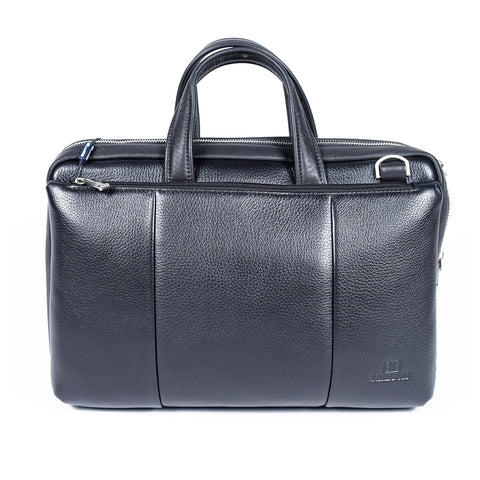 Black Genuine Leather Laptop Bag- GL - 1439 - All Bags Online