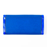 Trifold Wallet - Blue - Cross-hatch and Patent Material - All Bags - JP-W-04 - All Bags Online