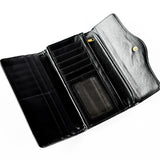 Trifold Wallet - Black - Studded - Smooth texture - All Bags - JP-W-06 - All Bags Online