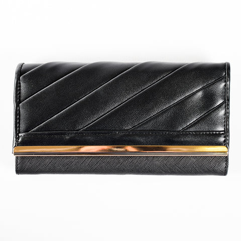 Trifold Wallet - Black - PU Material - All Bags - JP-W-08 - All Bags Online
