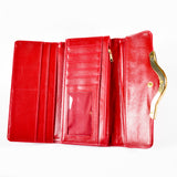 Trifold Wallet - Red - Quilted - All Bags - JP-W-09 - All Bags Online