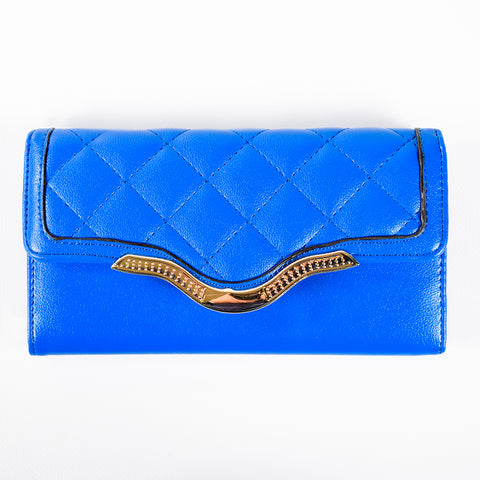 Trifold Wallet - Blue - Quilted - All Bags - JP-W-09 - All Bags Online