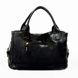 Black Handbag with Smooth Material - OH-5018 BLACK - All Bags Online