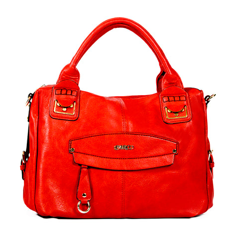 RED Handbag with Smooth Material - OH-5018 - All Bags Online