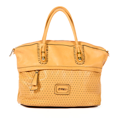 Laser-cut & Woven Detail - OH-5020 BEIGE - All Bags Online