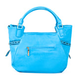 Blue Handbag with Light Gold Hardware - OH-5023 BLUE - All Bags Online
