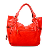 RED Handbag with Light Gold Hardware - Allbags - OH-5023 RED - All Bags Online