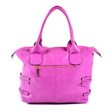Semi-structured Handbag - Purple - Smooth Material OH-5027 - All Bags Online