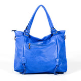 Semi-structured Handbag - Dark Blue - Smooth Material - All Bags - OH-5031 - All Bags Online