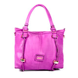 Semi-structured Handbag - Purple - Smooth Texture - All Bags - OH-5031 - All Bags Online