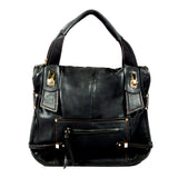 Semi-structured Handbag - Black - Smooth Material - All Bags - OH-5033 - All Bags Online