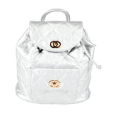 Stylish Metallic Silver Backpack - Allbags - PB-H-61668 - All Bags Online