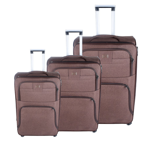 Brown Luggage Set - AB-L-3001 - All Bags Online