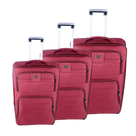 Maroon Luggage Set - AB-L-3001 - All Bags Online