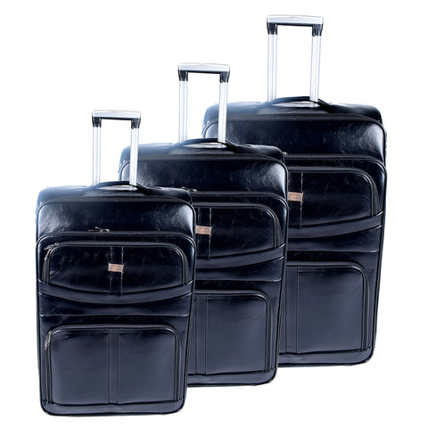 Black Luggage Set - AB-L-4001 - All Bags Online