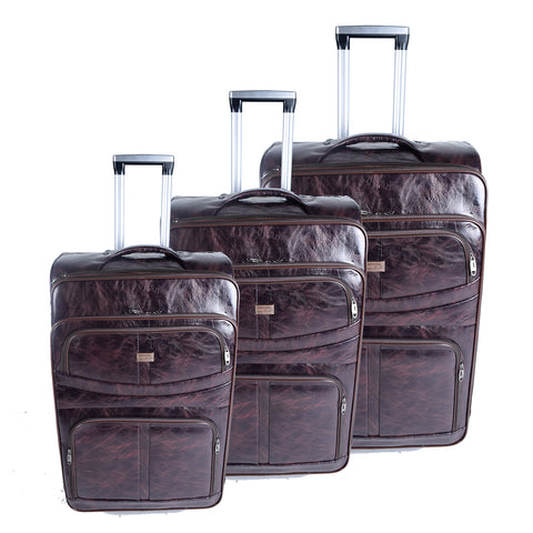 Burgundy Luggage Set - AB-L-4001 - All Bags Online