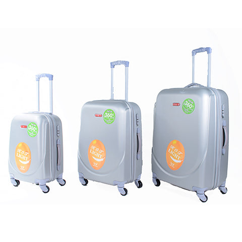 Silver Luggage Set - PA-360-28 - All Bags Online