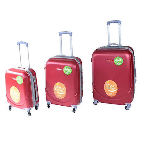 Maroon Luggage Set - PA-360-28 - All Bags Online
