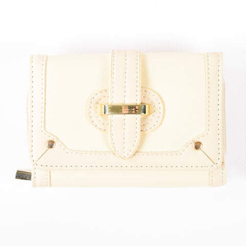 Special Trifold Wallet - Small - Cream - PU Material - All Bags - All Bags Online