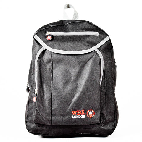Backpack - Black & Red - WAB-6603B - All Bags Online
