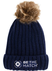 Be The Match® Cable Knit Pom Beanie