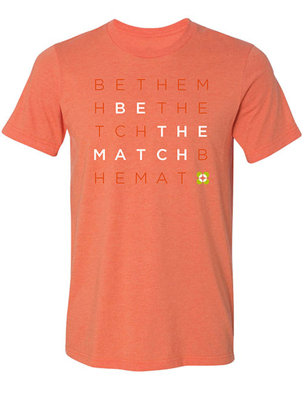 Be The Match® Logo Heather Orange T-Shirt