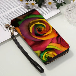 Colored Roses Women's PU Clutch