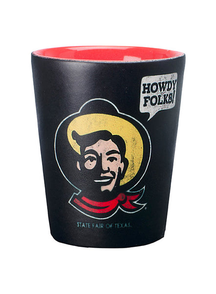 """Howdy Folks!"" Matte Black Shot Glass"