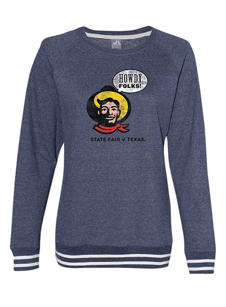 "Ladies ""Howdy Folks!"" Crewneck Sweatshirt"