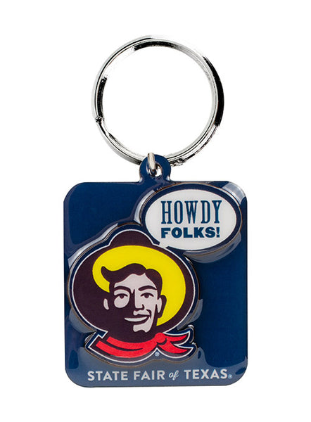 "Big Tex® ""Howdy Folks!®"" Square Keychain"