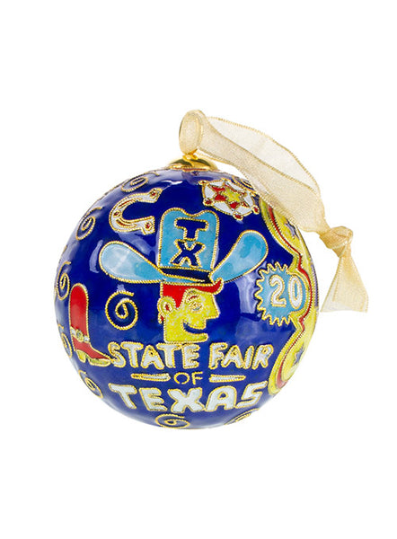 State Fair of Texas® 2020 Celebrating Texas Icons Theme Closoinné Ornament
