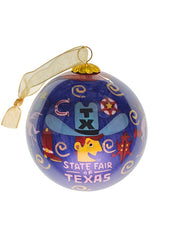 State Fair of Texas® 2020 Celebrating Texas Icons Theme Glass Ornament