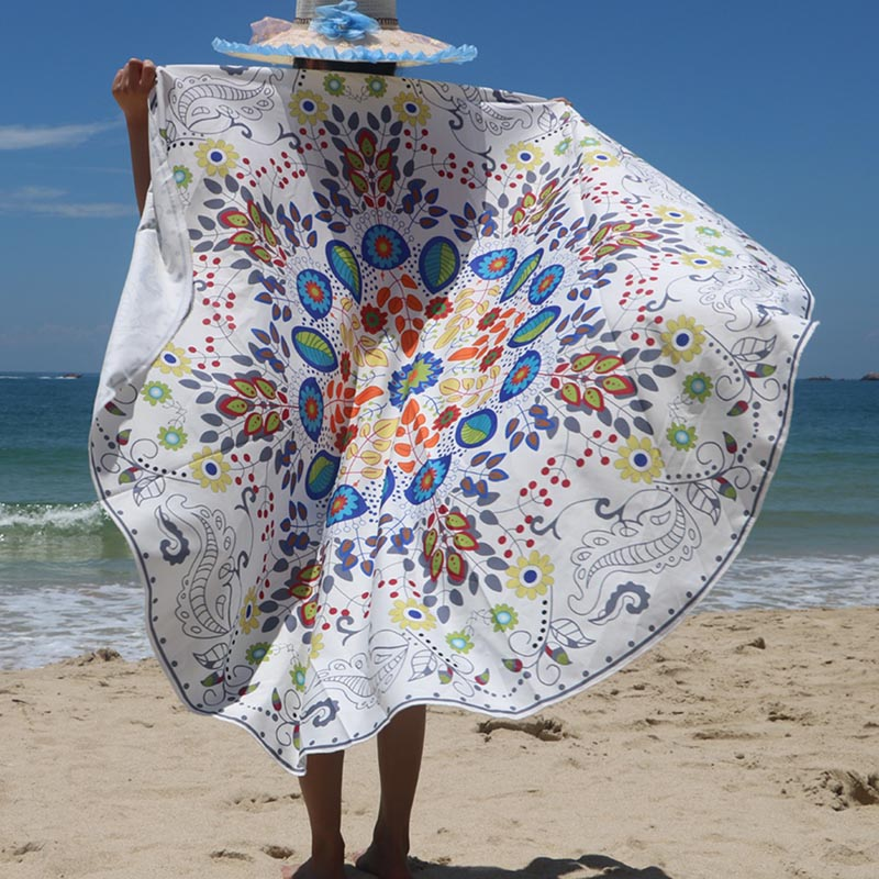Round Mandala Tapestry & Yoga Blanket Mat for the Summer Beach
