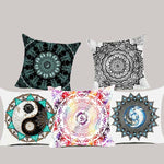 Mandala Polyester Cushion Cover Bohemian Geometric Pillow Case Tai chi Home Decorative Pillow Cover For Sofa Car almofada