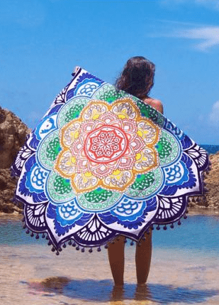 Indian Mandala Tapestry Totem Lotus Bikini Cover Up | Beach Towel | Yoga Mat Blanket