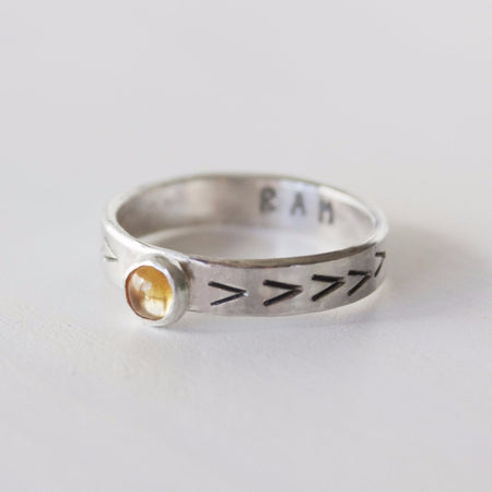 Third Eye Chakra ring with hidden mantra in sterling silver