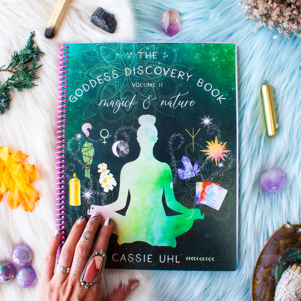 The Goddess Discovery Book Volume 2 // Magick & Nature // Plus Crystal Kit Option