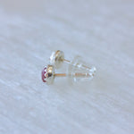 Mini gemstone stud earrings in sterling silver or 14k gold fill // Your choice of gemstone