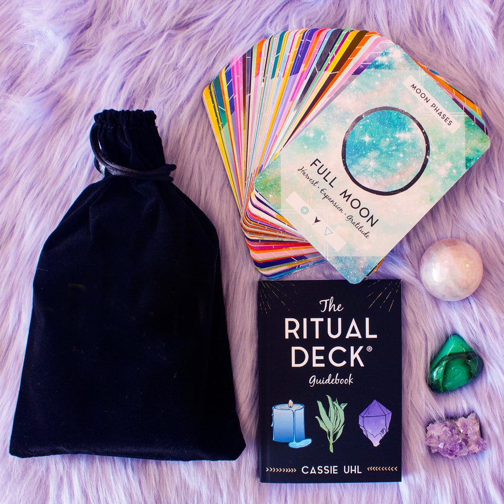 The Ritual Deck, 74-card oracle deck with physical or digital guidebook in bag