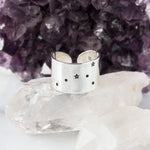 Cancer zodiac constellation ring in Sterling silver or Aluminum
