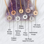 Customizable Charm Necklace in your choice of metal