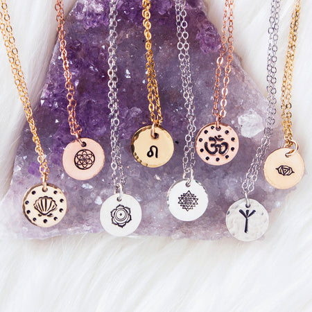 Chakra charm necklace // Customize your own chakra necklace