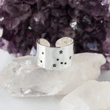 Taurus zodiac constellation ring in Sterling silver or Aluminum