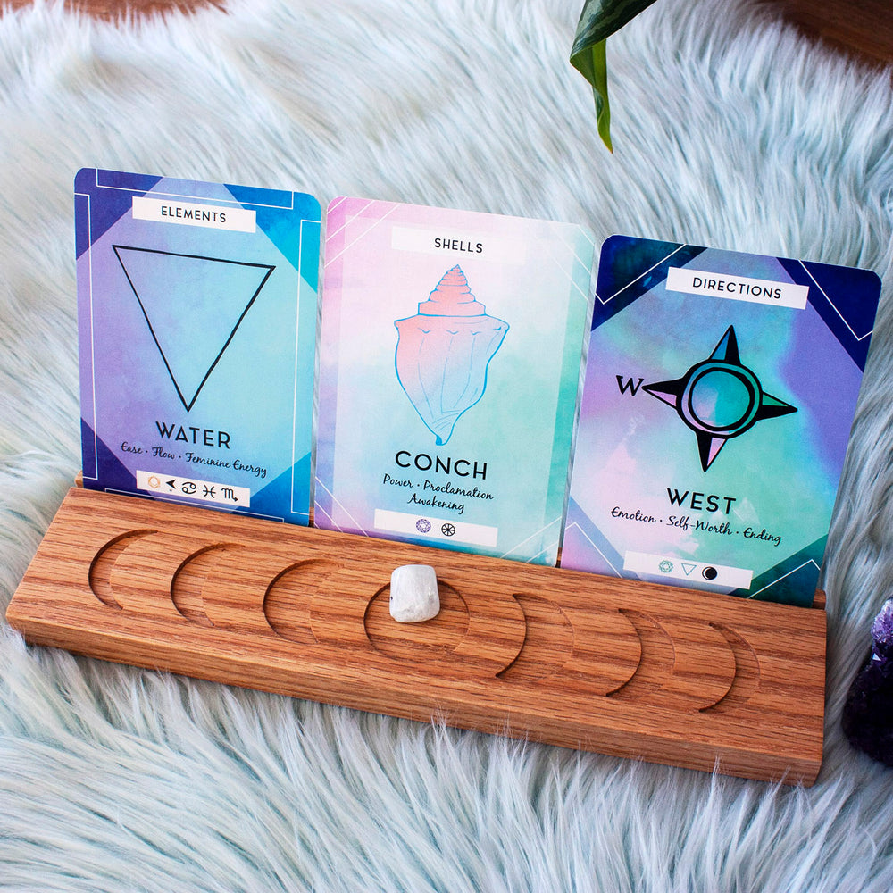 Three-Card Moon Phase Card Stand